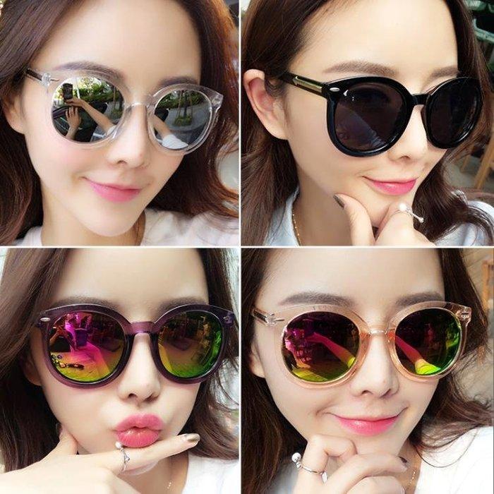 墨鏡女潮款2018新款太陽眼鏡女防紫外線2018圓臉眼睛