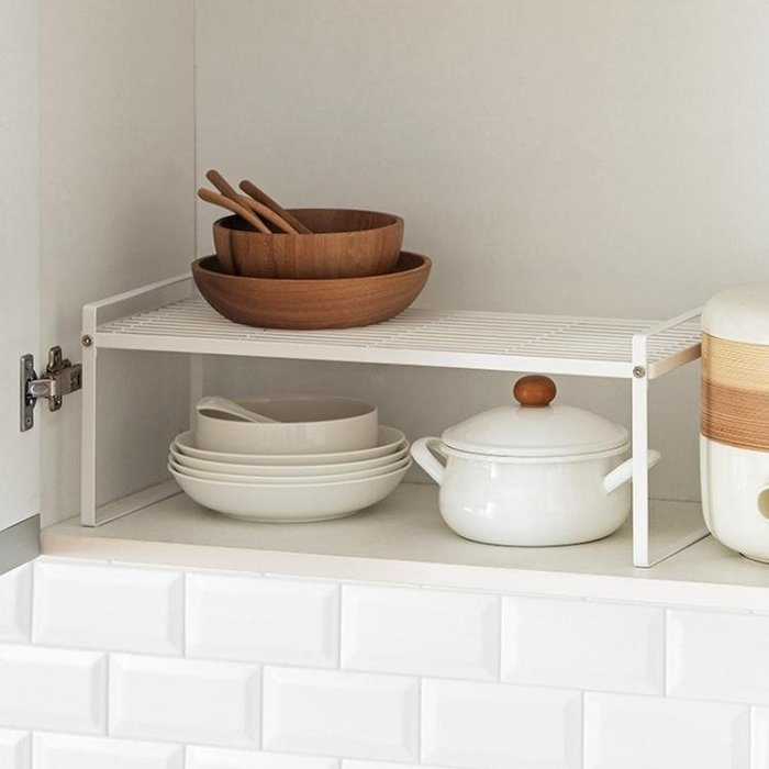 置物架 懶角落 廚房鐵藝分層置物架 多層收納架鍋架調味料架儲物架66141