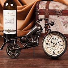 美國老式哈雷鐵皮摩托車桌鐘~loft 民宿 餐飲 居家 攝影(三款可選)*Vesta 維斯塔*