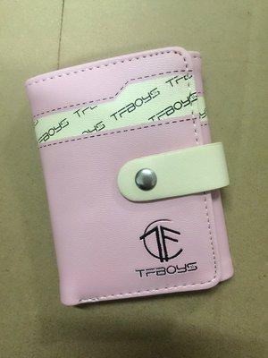 TFBOYS同款 錢包 女短款 可爱 學生兩折錢包 少女皮夾 粉紅色
