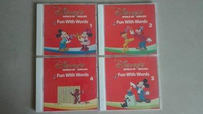 寰宇迪士尼美語 點讀版 fun with words 米奇趣味互動學習 4CD (CD only)寰宇家庭 Disney