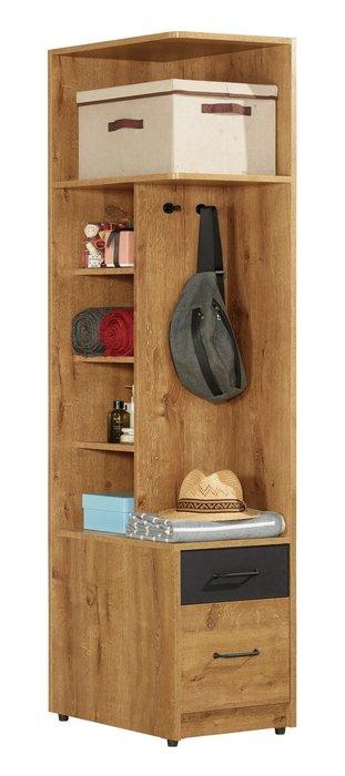 費利斯1.5尺二抽左桶收納櫃/角落櫃/牆角櫃😊暖暖屋傢俱傢飾😊