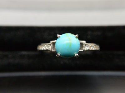 #超值 500圓專區# 天然 綠松石turquois   簡約設計款 戒指 戒子 #10.5