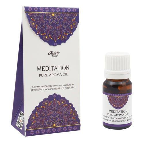 [綺異館]印度香氛精油 冥想 (香甜) 10ml JAIN'S MEDITATION pure 另售印度皂 印度香