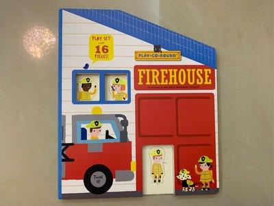 Firehouse ─ Play-go-round  厚紙遊戲書 消防局 立體書