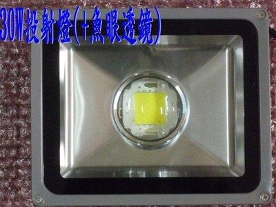 【唐堂生活家】LED投射燈 30W+魚眼透鏡(不炫光) 3000流明 晶芯:CREE 桃園市