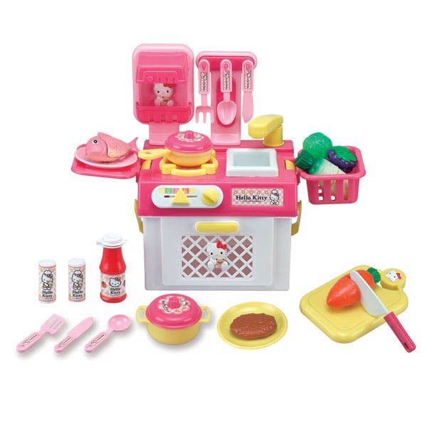 家家酒玩具-㊣三麗鷗 Hello Kitty流理台瓦斯爐組~仿真又可愛~配件內容超豐富~◎童心玩具1館◎