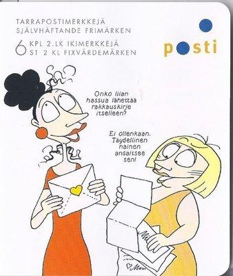 2011年芬蘭漫畫Maisa and Kaarina自黏郵票booklet
