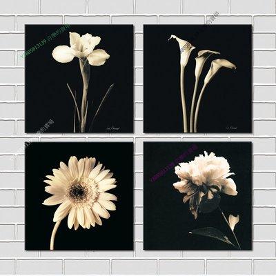 【60*60cm】【厚1.2cm】經典花卉-無框畫裝飾畫版畫客廳簡約家居餐廳臥室牆壁【280101_195】(1套價格)