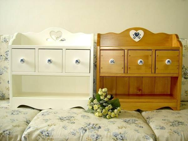 收納櫃 松木 實木 壁櫃 置物櫃**樂在幸福**木作坊~A54~松木三抽屜桌上收納櫃
