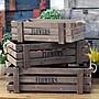 鄉村復古LOFT木長方形單層格麻繩置物盒 歐美...