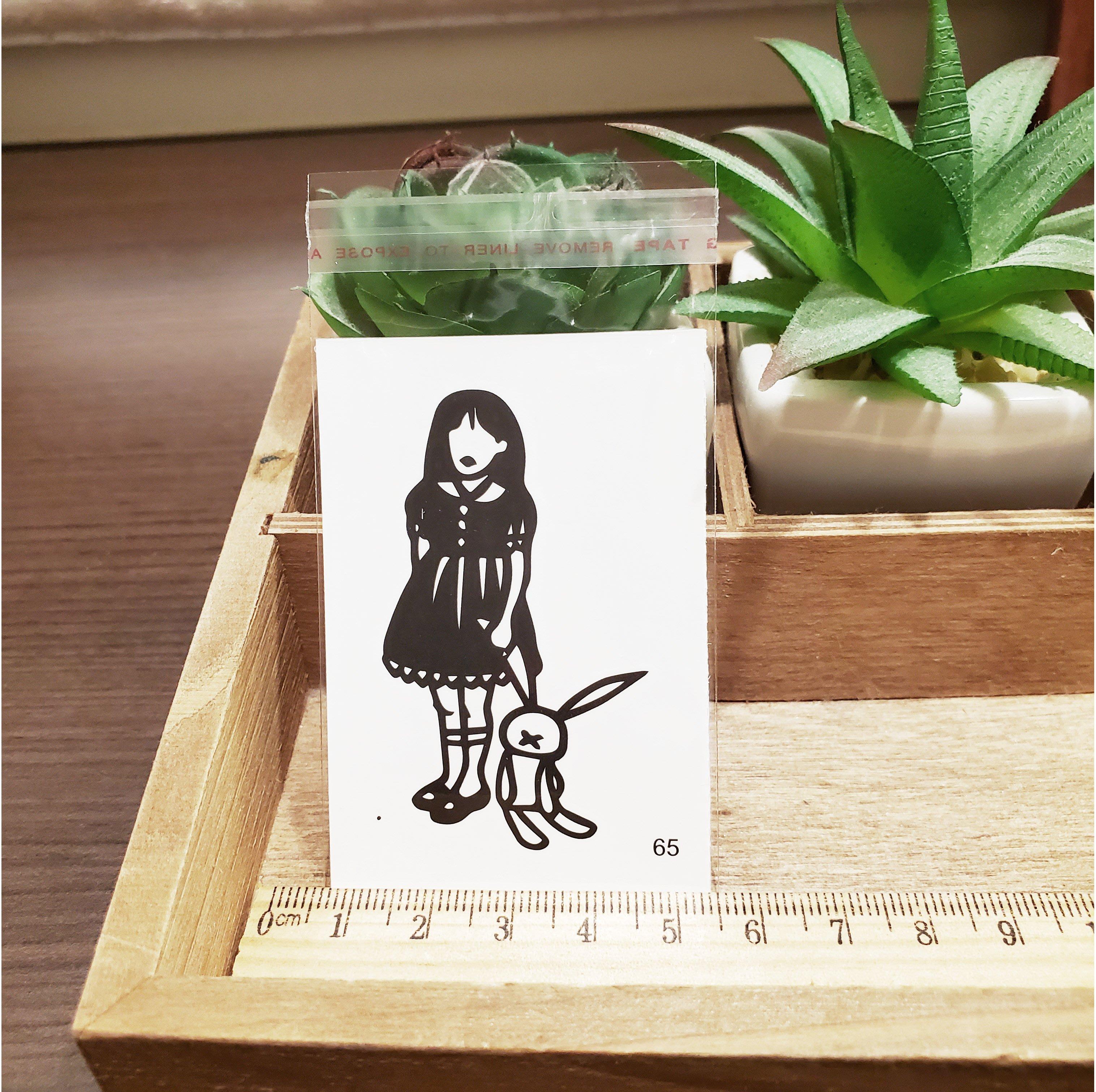 【萌古屋】百態人生65單圖 - 男女防水紋身貼紙刺青貼紙 K43