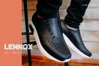 *永和正品簽約*Native LENNOX 雷諾系列 雷諾鞋 洞洞鞋 懶人鞋 不怕水 黑x白