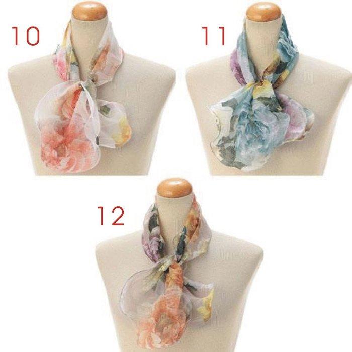 義大利製 ~ 2021年 簡約 波浪造型  短圍巾(賣場2-款式11~20)(共42款)