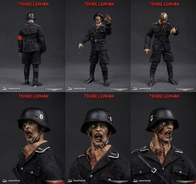 全新未開封 Damtoys Zombie German Soldier SS Pvt Jakob 1/6 Hottoys