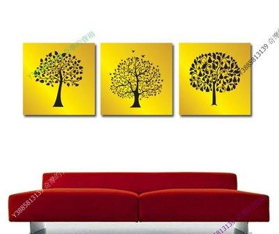 【30*30cm】【厚0.9cm】金發財樹-無框畫裝飾畫版畫客廳簡約家居餐廳臥室牆壁【280101_086】(1套價格)
