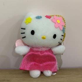 【東京家族】Hello Kitty凱蒂貓 粉紅花仙子 玩偶吊飾