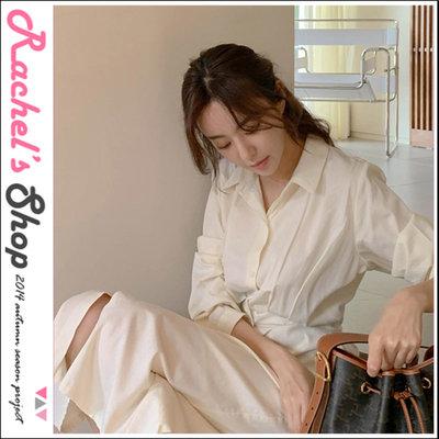 韓國空運*特價*cherrykoko優雅邂逅 壓摺設計排扣長洋裝[CK-CB02GEOP4]Rachel's Shop