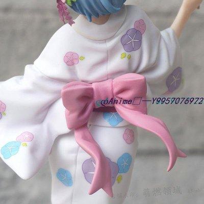 ∞Anime∞ 浴服蕾姆手辦模型機箱擺件從零開始棉花糖和服浴衣雷姆公仔漫翔廠