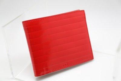 [熊熊之家]全新正品[Dior Homme] DH 男用短夾 八卡  亮面 大紅色