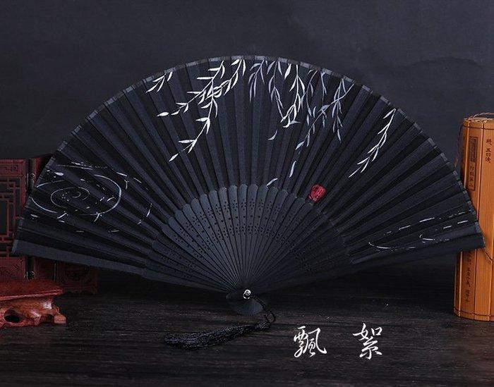 日式折扇中國風禮品真絲竹扇子日式和風扇蝴蝶櫻花扇舞蹈道具扇(第7區)