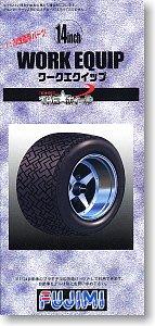 富士美 1/24 輪圈輪胎 模型 14寸 Work Equip 19313