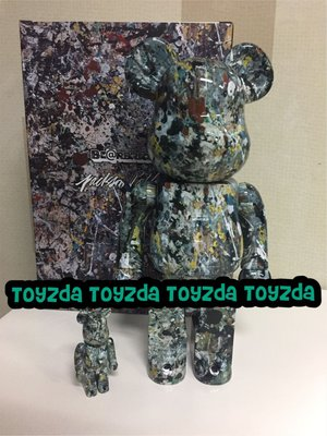 [現貨] Medicom Jackson Pollock 2.0 version 400% + 100% bearbrick be@rbrick set