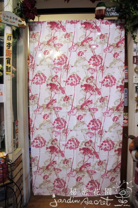門簾窗簾--日本進口鄉村風印花厚磅純棉門簾/窗簾-100*180cm--秘密花園