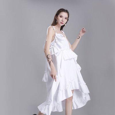 蘇蘇家A fairy dress with irregular layered ruffles and sleeveless