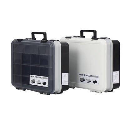 #熱賣#RETAINER大號出口兩層漁具盒 路亞盒箱 零件盒LEGO分類盒(價格不同 請諮詢後再下標)