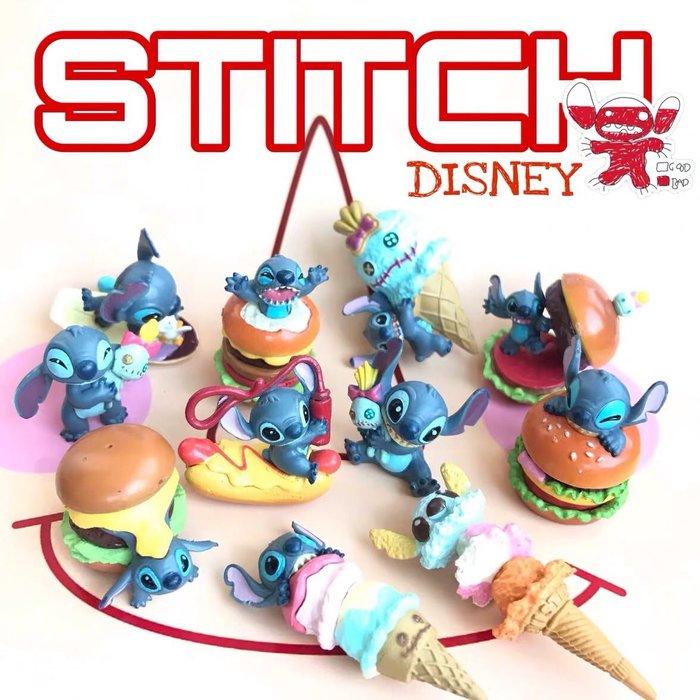 《瘋狂大賣客》迪士尼 Disney 史迪奇 小金 漢堡 冰淇淋 食玩 動漫 盒玩 蛋糕 禮物 盲盒 公仔 擺件 擺飾 可愛 療癒 造型 創意 特別 模型 卡通