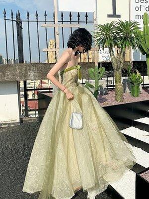 *全新~sasa婚紗禮服~綠色長禮服*可訂做尺寸 敬酒服~可訂做大尺碼~伴娘服
