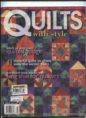 紅蘿蔔工作坊/美國拼布手工藝書=QUILTS with style 書中圖形(2004.2月