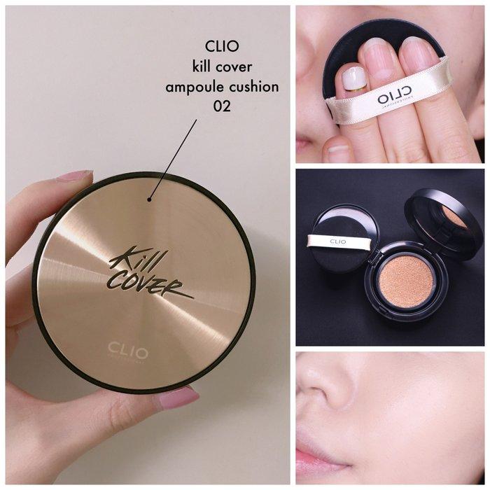 【韓Lin連線代購】 韓國 CLIO - KILL COVER 無暇珍珠光澤遮瑕氣墊粉餅 AMPOULE