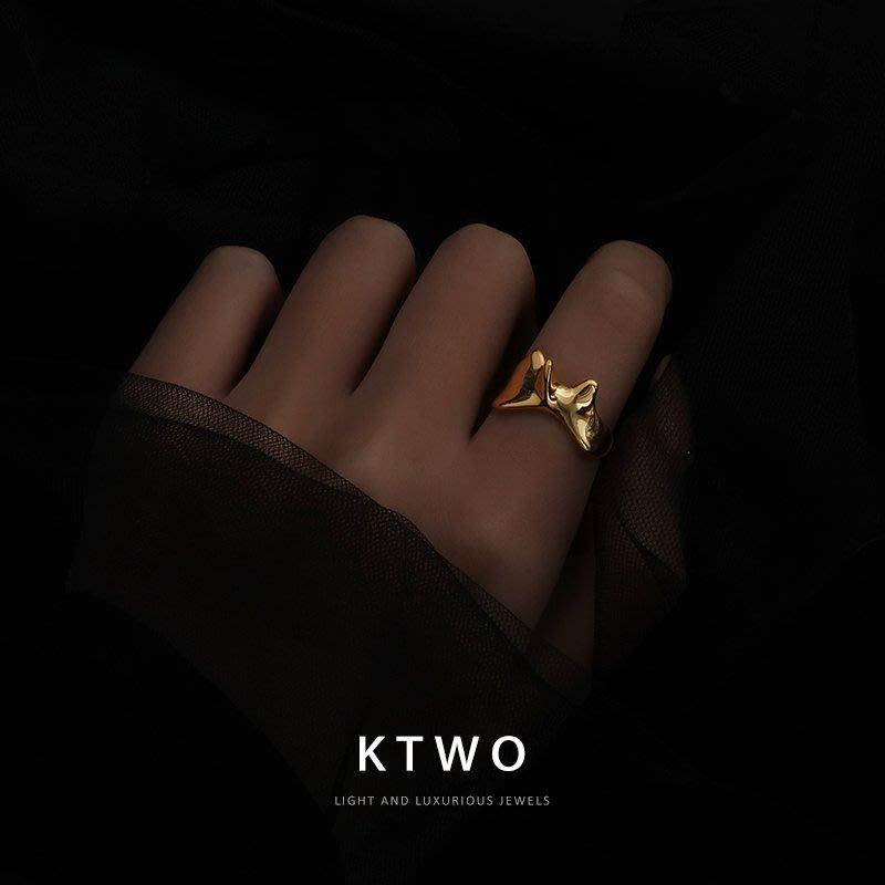jamel韓專櫃~小眾設計感歐美風時尚氣質抽象面具戒指指環女ins潮網紅性冷淡風