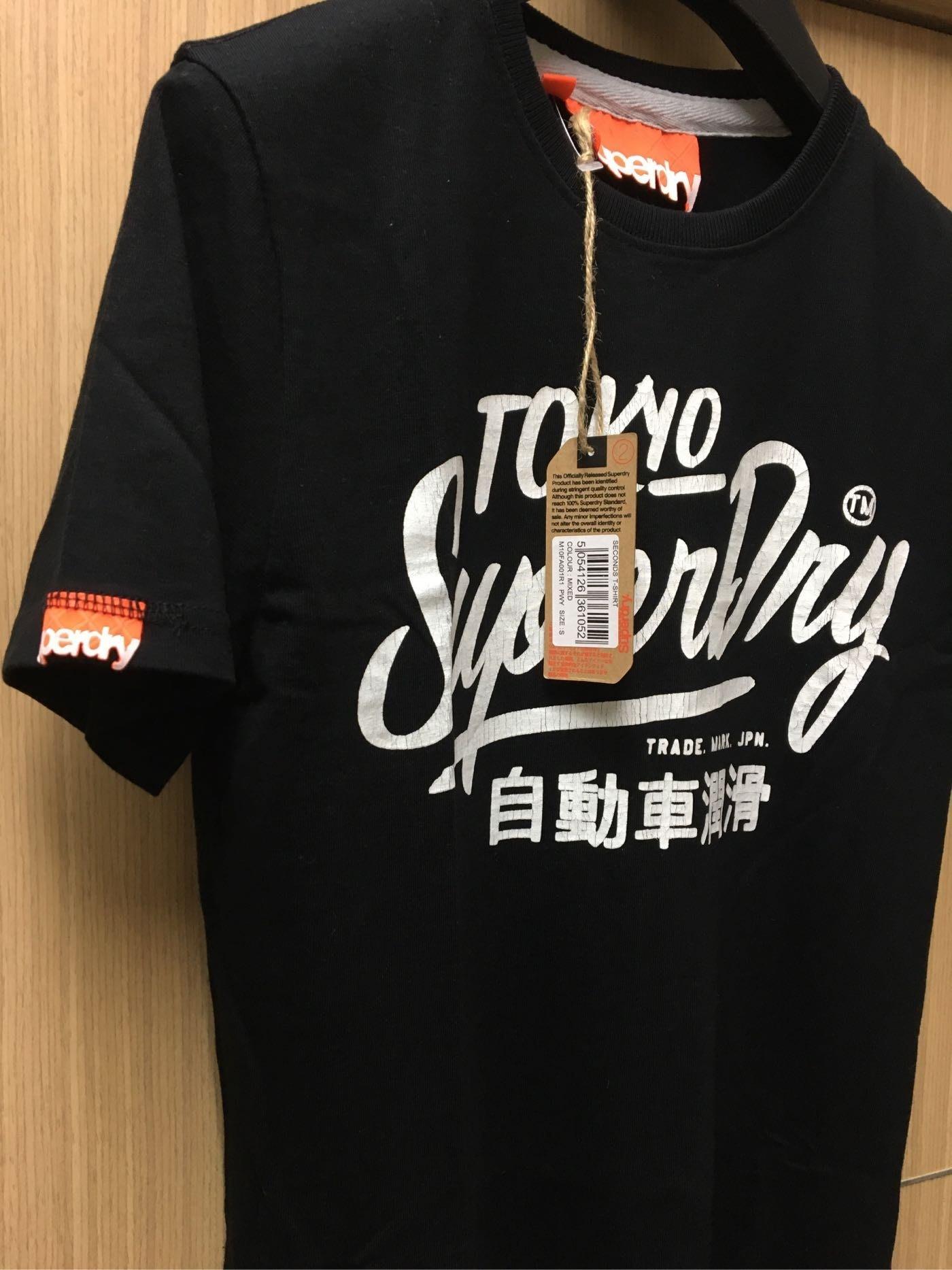 英國官方直送 Superdry Tokyo 自動車潤滑 logo短袖