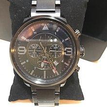 ARMANI EXCHANGE [AX1375] A/X男款腕錶鋼帶 黑色 美國專櫃購買 二手商品