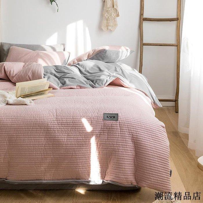 夾棉絎縫棉絨套件加厚保暖四件套單雙人空調被珊瑚絨寶寶絨床笠