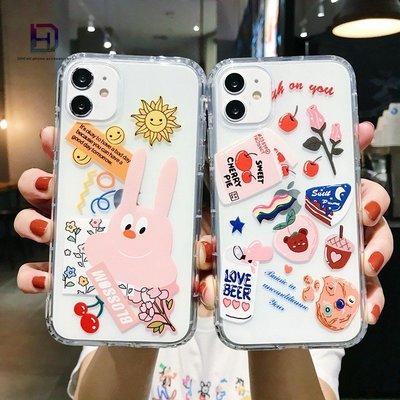 【現貨iphone12空壓殼】卡通日韓風櫻桃兔子se2手機殼i11 xs手機殼xr i7 i8plus ix蘋果手機殼