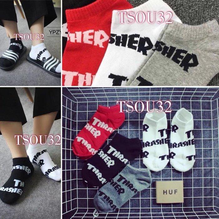 買10送一 THRASHER滿版款 短襪 GD 船襪 襪子 短襪