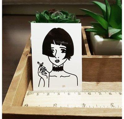 【萌古屋】人生系列21單圖 - 男女防水紋身貼紙刺青貼紙 K43