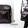 SCHEMER/ 8247 牛皮製咖啡色側背包 真皮側背...