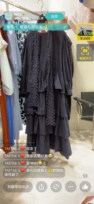 韓國初秋新款 雷斯拼接薄棉襯衫蛋糕洋裝