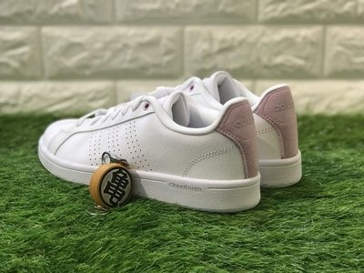 龜字標記ADIDAS CF ADVANTAGE CL 復古 休閒鞋 女鞋 小白鞋 皮革 舒適 DB0893 乾燥玫瑰