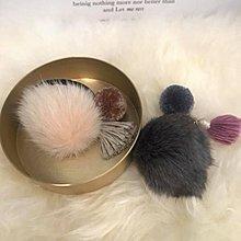 正韓國🇰🇷飾品 高質感小毛球綴流蘇髮束髮圈
