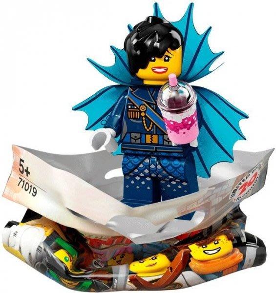 現貨【LEGO 樂高】積木 / 人偶包系列 忍者電影 71019   #11 鯊魚軍團 女將軍+飲料 General