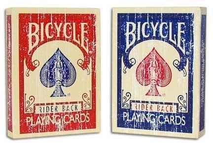【意凡魔術小舖】Faded Bicycle deck 掉漆牌斑駁牌附原廠免丟3張牌教學及教學公司紙牌