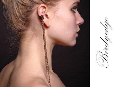 BIRDYEDGE 項鍊 耳環 假耳環 長鏈 歐美 款 夾扣式 耳環 一入