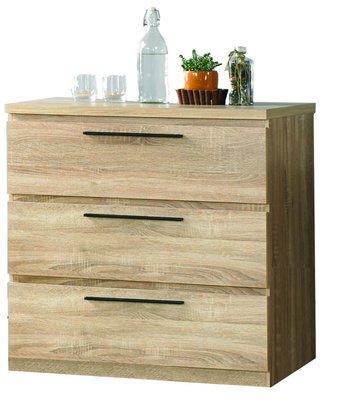 【南洋風休閒傢俱】衣櫃系列 - 凱文2.7尺橡木紋三斗櫃 實木衣櫃 JF054-1