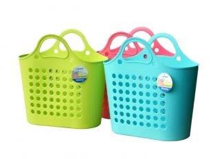 315百貨~時尚大方~P20057 P2-0057 大美人購物提籃*1入組 / 防水包 購物包 手提包 編織包 拼布包